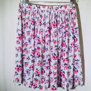 VINTAGE 80s Worthington floral skirt women sm/med